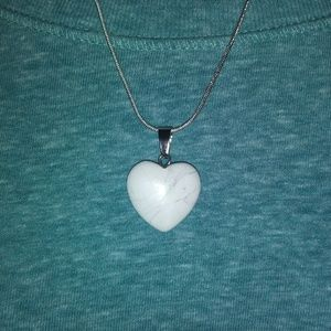 White Heart Necklace ❤❤
